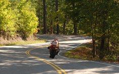 Na motorce okolo Slapské přehrady