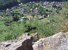Hradiště Černé Budy na Krkavčích skálách u Sázavy