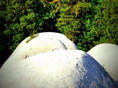Bílé kameny u Jítravy v Lužických horách - Sloní skály