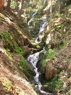 Kýšovický vodopád na Chomutovsku