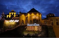 Vánoční dům na zámečku v Doubí