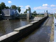 Trilčův jez a vodní elektrárna v Českých Budějovicích