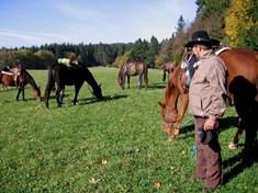 Putování na koních na Ranči Oklahoma