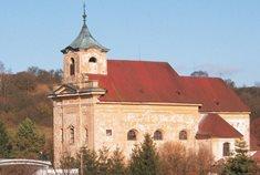 Hřbitovní kostel sv. Barbory v Manětíně